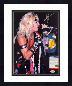 Motley Crue singer Vince Neil autograph signed 11x14 photo ~ PSA Witnessed COA