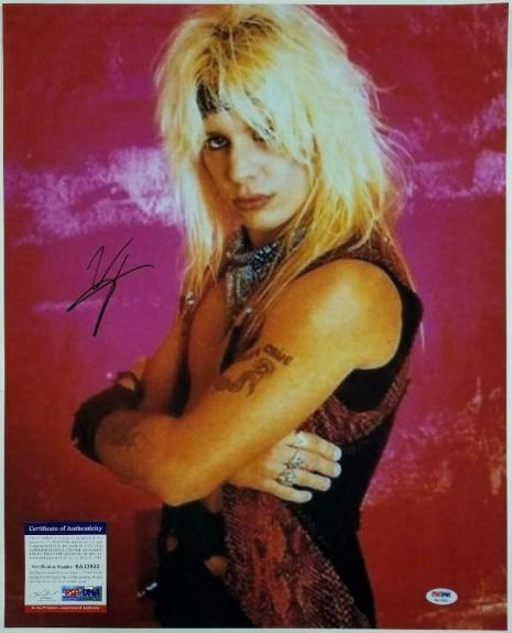 Motley Crue singer Vince Neil autograph signed 16x20 Photo ~ PSA Witness ITP COA