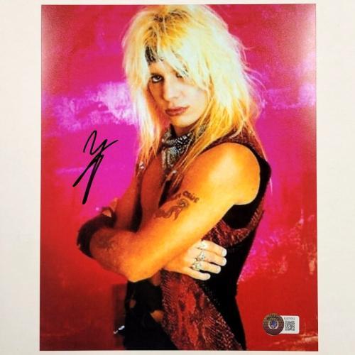 Motley Crue singer Vince Neil autograph signed 8x10 Photo ~ PSA/DNA COA