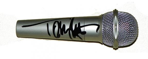 Motley Crue Tommy Lee Autographed Facsimile Signed Microphone