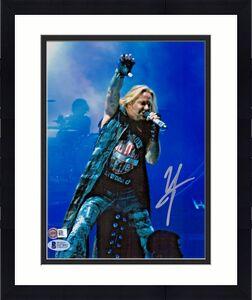 Motley Crue Vince Neil Autographed 8x10 Photograph Signed Beckett Sticker Only