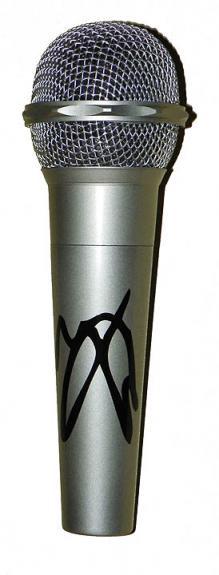 Motley Crue Vince Neil Facsimile Signature   Microphone