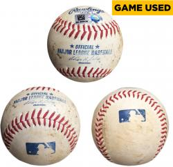 Colby Lewis Texas Rangers Game-Used Pitched Baseball - Mounted Memories