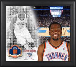 Kevin Durant Oklahoma City Thunder Framed 15'' x 17'' Mosaic Collage with Team-Used Basketball-Limited Edition of 99 - Mounted Memories