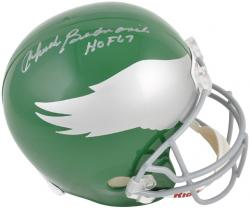 Chuck Bednarik Philadelphia Eagles Autographed Riddell Replica Helmet with ''HOF 67'' - Mounted Memories