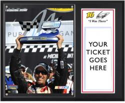 """Greg Biffle 2012 Pure Michigan 400 Sublimated 12"""" x 15""""""""I Was There"""" Photo Plaque"""
