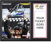 "Greg Biffle 2012 Pure Michigan 400 Sublimated 12"" x 15"" ""I Was There"" Photo Plaque - Mounted Memories"