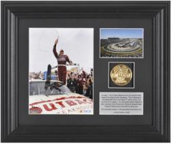 Ryan Newman '12 Goody's Fast Pain Relief 500 Race Winner 6'' x 5'' Photo w/ Plate & Gold Coin - L. E. of 339 - Mounted Memories