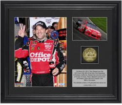 "Tony Stewart 2012 Auto Club 400 Race Winner Framed 6"" x 8"" Photo with Plate & Gold Coin - Limited Edition of 314"