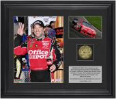 """Tony Stewart 2012 Auto Club 400 Race Winner Framed 6"""" x 8"""" Photo with Plate & Gold Coin - Limited Edition of 314"""
