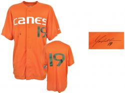 Yonder Alonso Miami Hurricanes Autographed Game Used Jersey - Mounted Memories