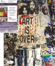 Mr Brainwash Artist Legend Signed Autograph John Lennon 8x10 Photo Jsa Coa Rare