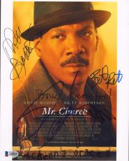 "MR. CHURCH"" Cast Eddie Murphy, Britt Robertson +4 Signed 8x10 Photo BECKETT BAS"