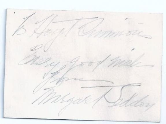 Mr Deeds Goes to Town Actress Margaret Seddon (d.68) Signed Auto 3x2 Card F5