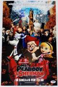 MR PEABODY & SHERMAN CAST SIGNED 11x17 PHOTO PATRICK WARBURTON ARIEL WINTER PSA