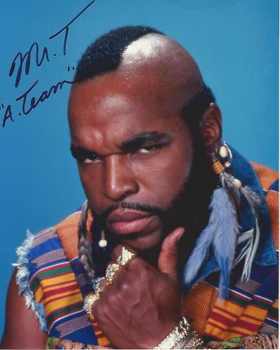 """MR. T as B.A. BARACUS in TV Series """"THE A TEAM"""" Signed 8x10 Color Photo"""