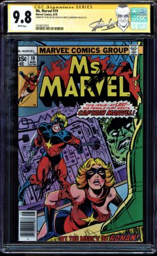 MS MARVEL #19 CGC 9.8 WHITE SS 2 Xs STAN LEE CLAREMONT HIGHEST GRADED 1610472016