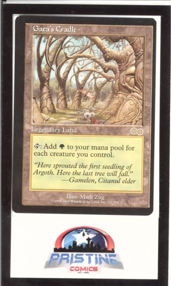 Mtg Magic The Gathering Gaea's Cradle Urza's Saga Miscut Misprint