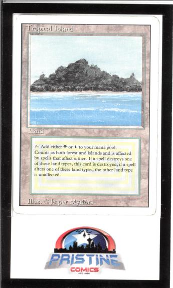 Mtg Magic The Gathering Tropical Island Revised Mp Lot 2