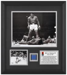 Muhammad Ali Framed 2-Photograph Ali vs. Liston II Presentation with Seat Piece-Limited Edition of 250 - Mounted Memories