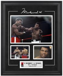 Muhammad Ali Framed 3-Photograph Rumble in the Jungle Collage - Mounted Memories