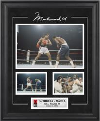 Muhammad Ali Framed 3-Photograph Thrilla in Manila Collage