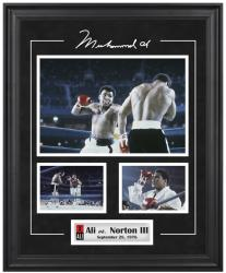 Muhammad Ali Framed 3-Photograph vs. Ken Norton Collage - Mounted Memories