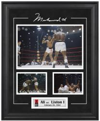 Muhammad Ali Framed 3-Photograph vs. Sonny Liston Collage - Mounted Memories