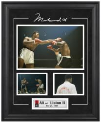 Muhammad Ali Framed 3-Photograph vs. Sonny Liston #2 Collage