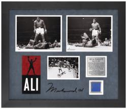 Muhammad Ali Framed 3-Photograph Ali vs. Liston II Presentation with Seat Piece-Limited Edition of 250 - Mounted Memories