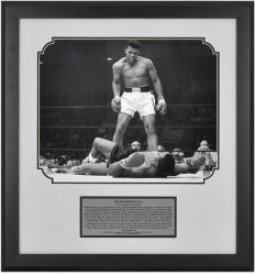 "Muhammad Ali Framed 16"" x 20"" vs Sonny Liston Photograph with Plate"
