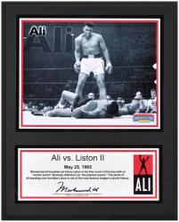 Muhammad Ali Sublimated 12'' x 15'' Ali vs. Liston II Plaque - Mounted Memories