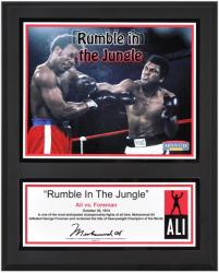 Muhammad Ali Sublimated 12'' x 15'' Rumble In The Jungle Plaque - Mounted Memories