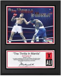 Muhammad Ali Sublimated 12'' x 15'' Thrilla In Manila Plaque - Mounted Memories
