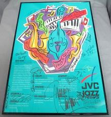 Multi Signed 1995 JVC Jazz Festival New York Poster 14 Signatures Total