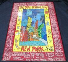 Multi Signed 1996 JVC Jazz Festival New York Poster 17 Signatures Total