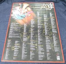 Multi Signed 1998 JVC Jazz Festival New York Poster 22 Signatures Total