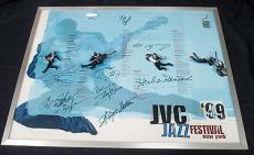 Multi Signed 1999 JVC Jazz Festival New York Poster 11 Signatures Total