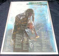 Multi Signed 2000 JVC Jazz Festival New York Poster 25+ Signatures w/Ray Charles