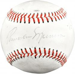 Thurman Munson Autographed Baseball JSA