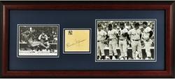 "Thurmon Munson New York Yankees Framed Autographed Cut Collage 11"" x 14"" Photograph"