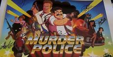 Murder Police cast autographed signed auto 2013 Comic-Con poster Phil LaMarr +5