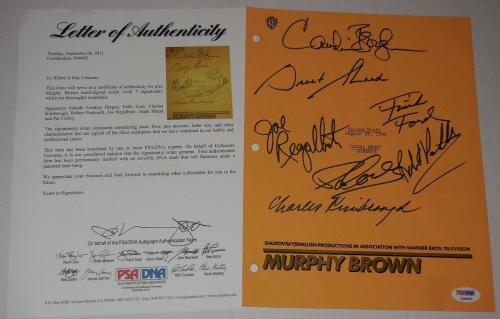 MURPHY BROWN CAST SIGNED SCRIPT (PSA DNA) - Bergen, Ford, Kimbrough, etc.