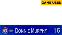 Donnie Murphy Texas Rangers 2014 Opening Day Locker Nameplate  - Mounted Memories  - Mounted Memories