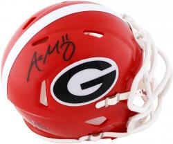 Aaron Murray Georgia Bulldogs Autographed Riddell Mini Helmet - Mounted Memories