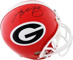 Aaron Murray Georgia Bulldogs Autographed Riddell Replica Helmet - Mounted Memories
