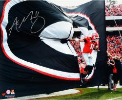 Aaron Murray Georgia Bulldogs Autographed 16'' x 20'' Entrance Photograph - Mounted Memories