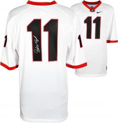 Aaron Murray Georgia Bulldogs Autographed White Game Jersey - Mounted Memories