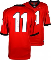 Aaron Murray Georgia Bulldogs Autographed Red Limited Jersey