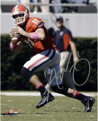 Aaron Murray Georgia Bulldogs Autographed 8'' x 10'' Passing Photograph - Mounted Memories